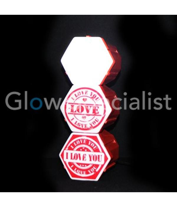 Party Fun Light LED LICHTORGEL I LOVE YOU