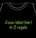 T-shirt with personalized UV / Neon text