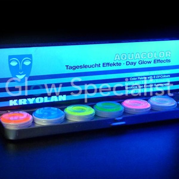 Kryolan, Aquacolor UV-dayglow Palette