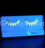 UV Eyelashes - pink / green
