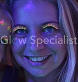 UV Eyelashes - pink / green
