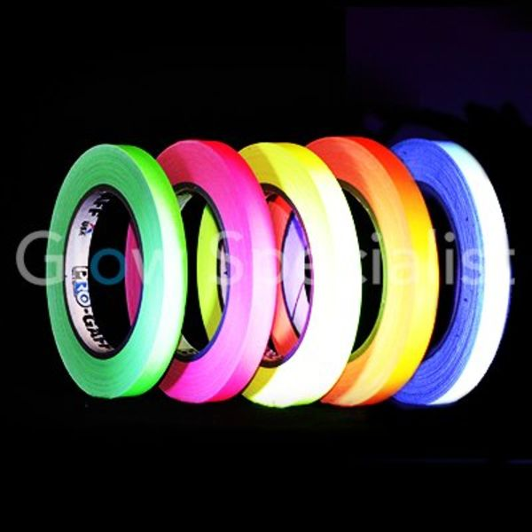 UV / BLACKLIGHT NEON TAPE - 12 MM x 22,8 M
