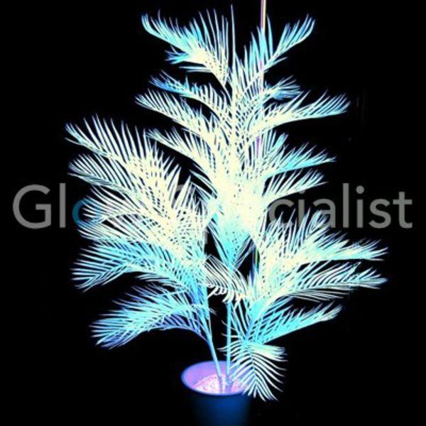 UV-REACTIVE KENTIA PALMTREE - 90 CM WHITE