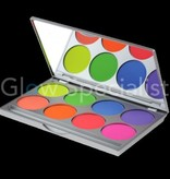 - Kryolan Kryolan UV Dayglow Compact Color palette with 8 colors