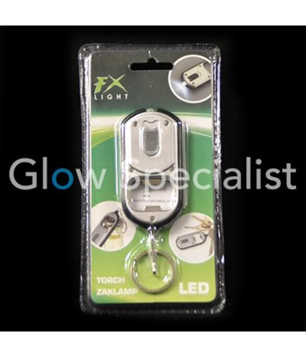 3-in-1 Mini LED Flashlight with keychain and opener