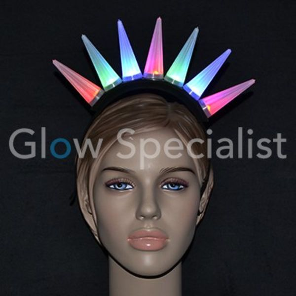 LED DIADEEM MET FLASHING SPIKES