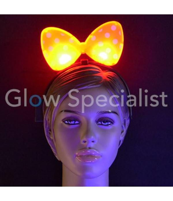 LED Flashing Bow Tie Head Bopper
