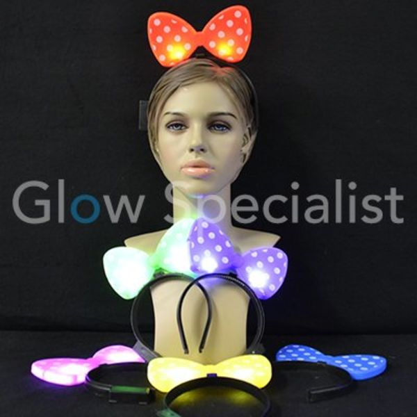 LED Flashing Bow Tie Head Bopper