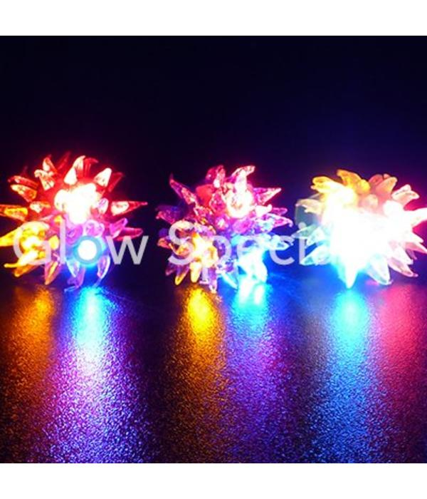 Spiky LED rings - display box with 50 pieces