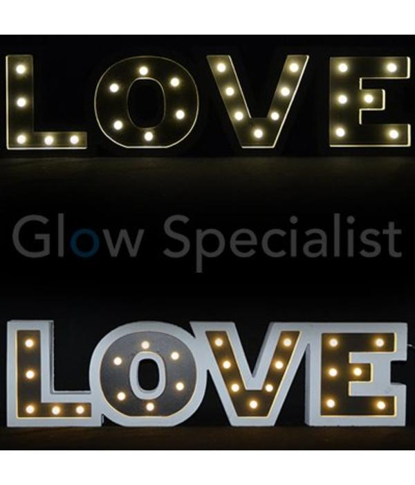 Decorative text with LED lights - LOVE