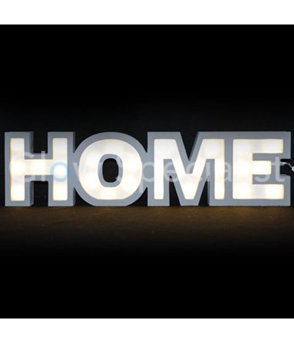 DECORATIEVE TEKST MET LEDVERLICHTING - HOME