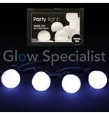PARTY LIGHTS - WIT - 10 LAMPJES - 8 LICHTEFFECTEN