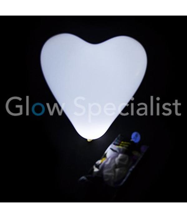 LED Balloons Heart - 5 pieces