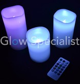 LED Candle set - 3 candles Multicolor