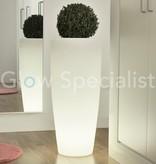 LED ILLUMINATED POT - ROUND - WHITE - 90 CM