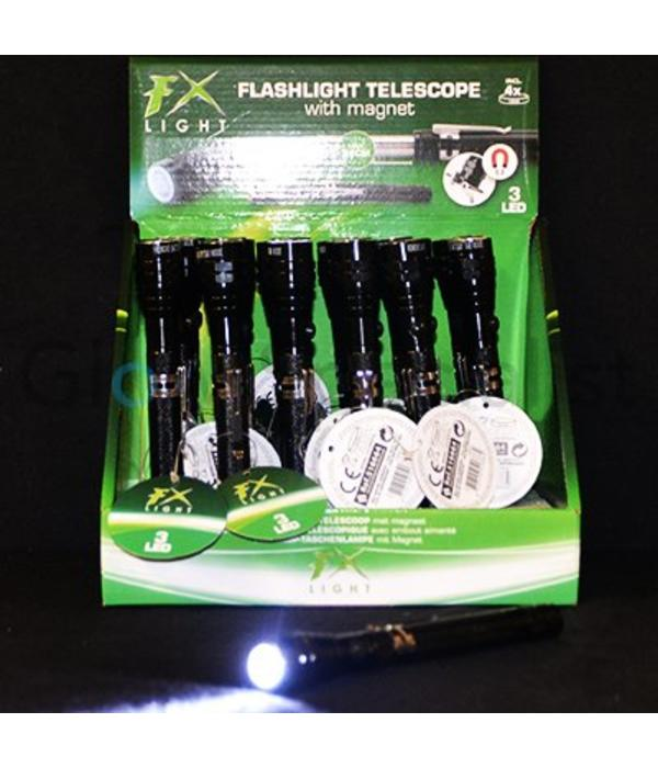 TELESCOPIC TORCH WITH MAGNETIC TIP