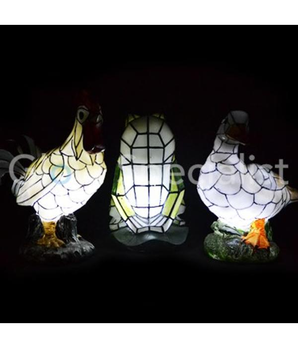 Solar mosaic lamp Duck