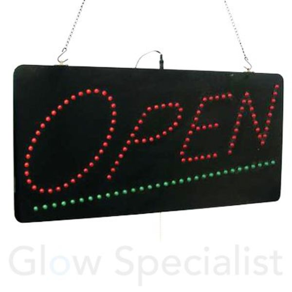 Eurolite LED Sign OPEN - LARGE - with remote control