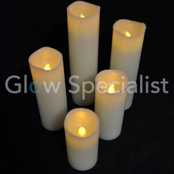LED Candle set - 5 candles