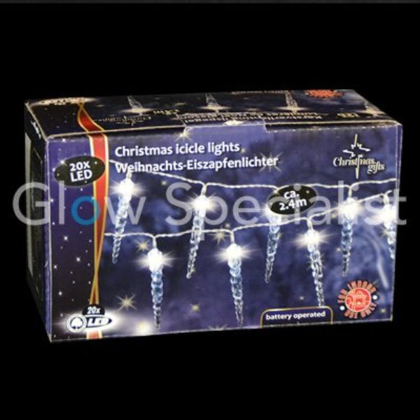 LED KERSTVERLICHTING WIT - 20 IJSPEGELS