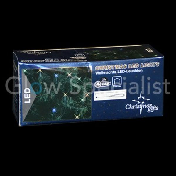 LED KERSTVERLICHTING MULTICOLOR - 35 LAMPJES