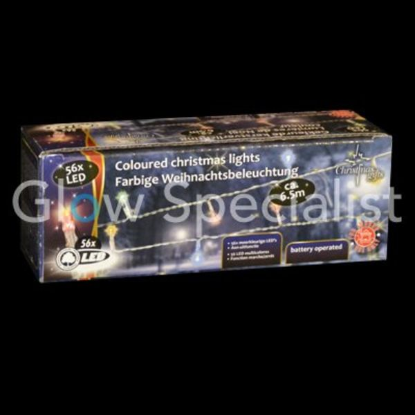 LED KERSTVERLICHTING MULTICOLOR - 56 LAMPJES