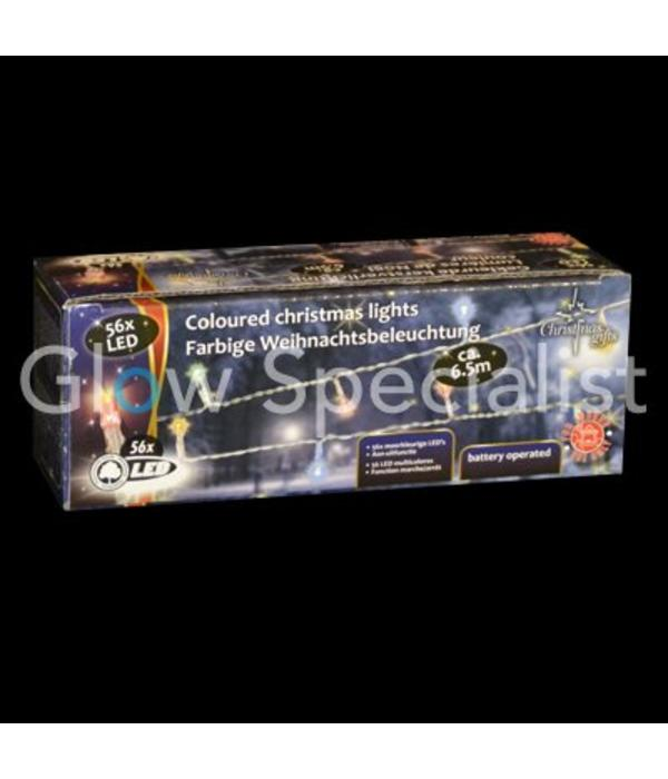 LED KERSTVERLICHTING MULTICOLOR - 56 LAMPJES