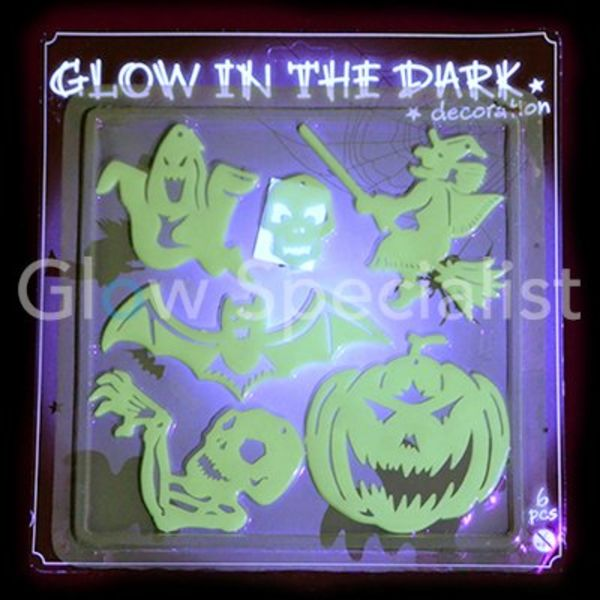 GLOW IN THE DARK HALLOWEEN FIGURES