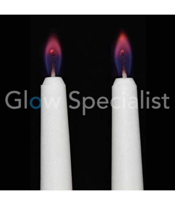 CANDLES WITH COLORED FLAMES - SET OF 2
