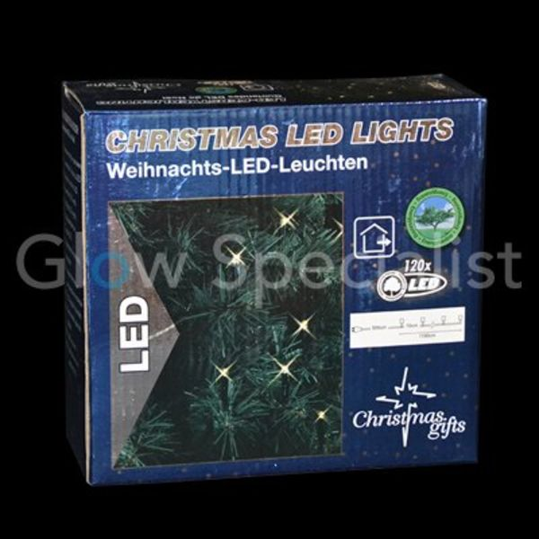 LED KERSTVERLICHTING WIT - 120 LAMPJES