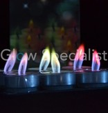 Tea lights with colored flame - 6 pieces