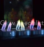 THEELICHTJES MET GEKLEURDE VLAM - 6 STUKS