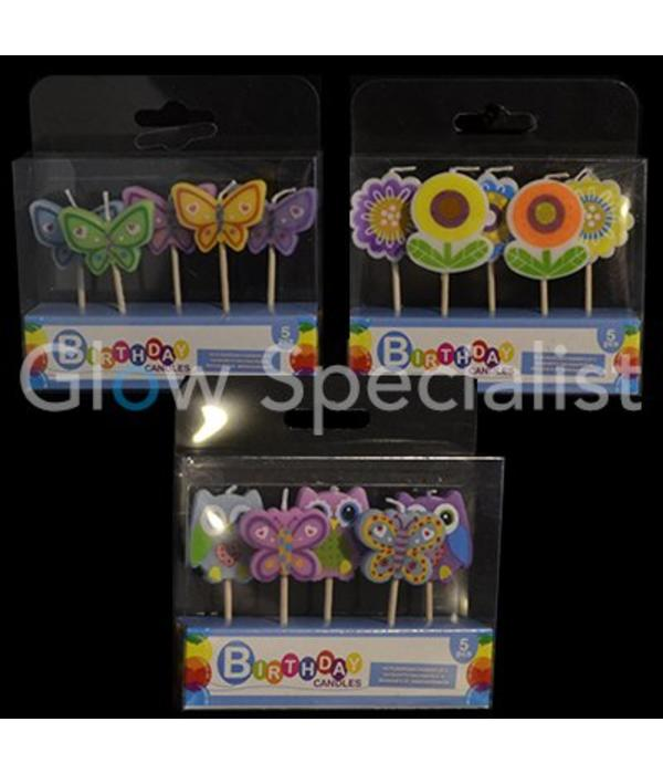 Birthday Candles assorted small - 15 pieces