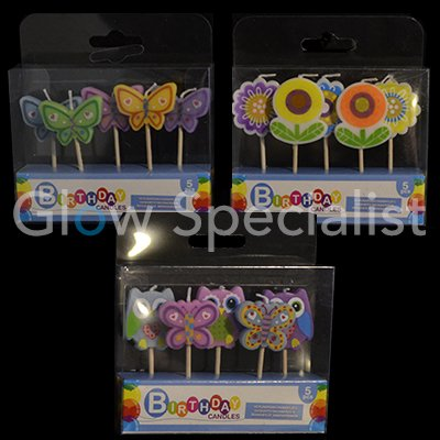 Birthday Candles Assorted Small