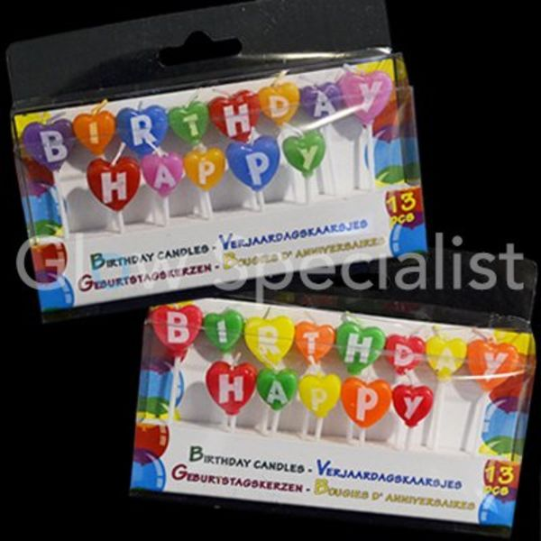 Birthday Candles Happy Birthday - set of 2