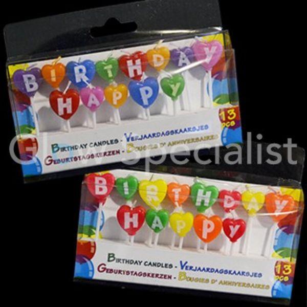 VERJAARDAGSKAARSJES HAPPY BIRTHDAY - set van 2