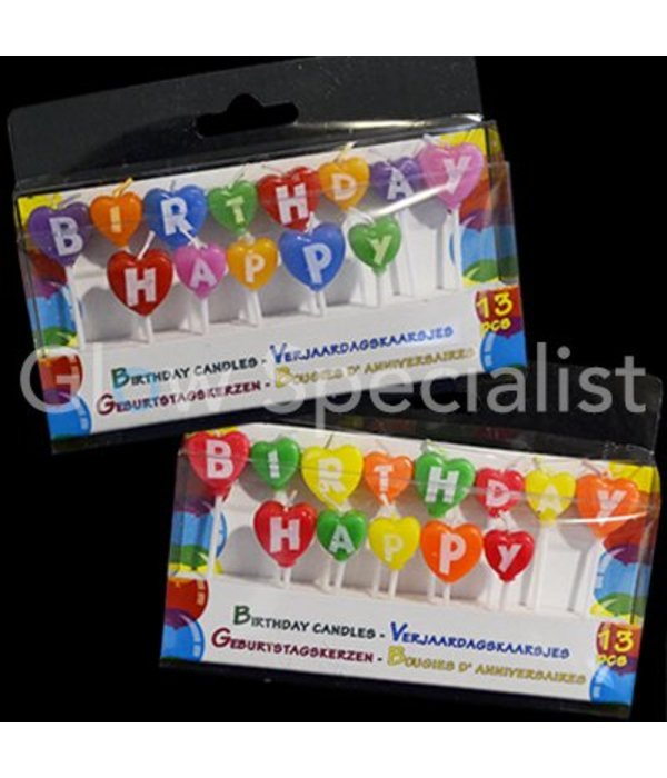 Birthday Candles Happy Birthday - set of 2