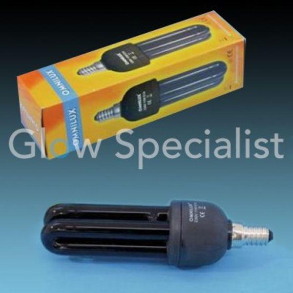 UV / BLACKLIGHT SPAARLAMP E14 - 11 WATT