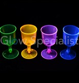 Party Essentials NEON WIJNGLAS GLASS- ASSORTI - 20 PIECES