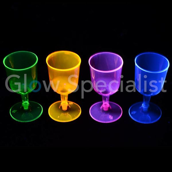 NEON WINE GLASS - ASSORTED - 20 PIECES