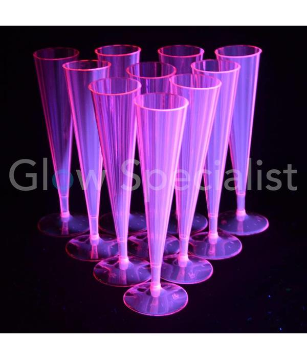 Party Essentials Neon Champagne flutes - pink - 10 pieces