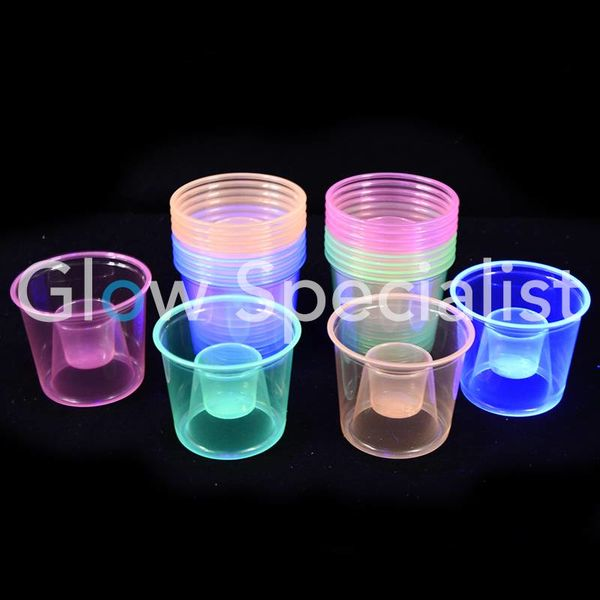 NEON BOMBER CUPS - ASSORTED - 25 PIECES