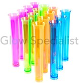 Party Essentials NEON TUBE SHOTS - ASSORTED - 15 PIECES