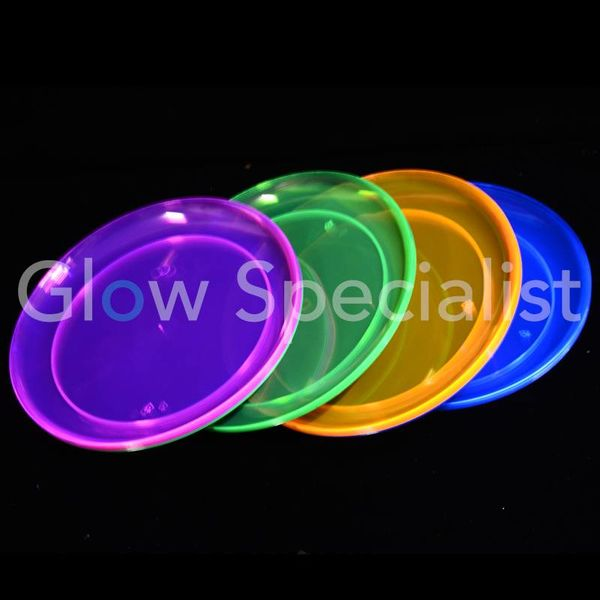 NEON PLATE - ASSORTED - 20 PIECES