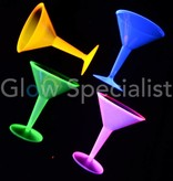 Party Essentials NEON MARTINI GLAS - ASSORTI - 12 STUKS
