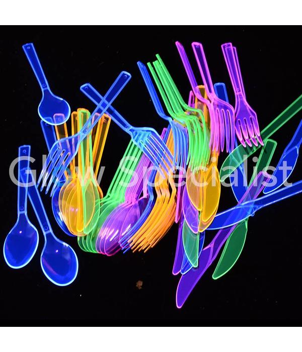 Party Essentials NEON CUTLERY - ASSORTED - 48 PIECE