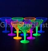 Party Essentials NEON MARGARITA GLAS - ASSORTI - 12 STUKS