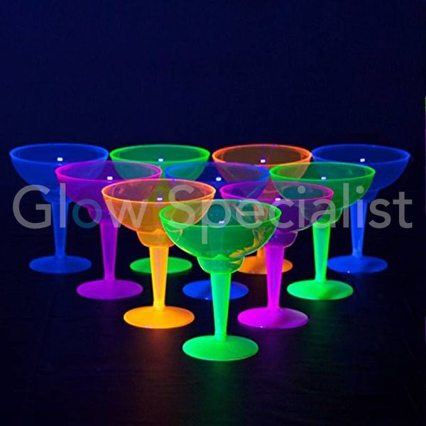 NEON MARGARITA GLAS - ASSORTI - 12 STUKS