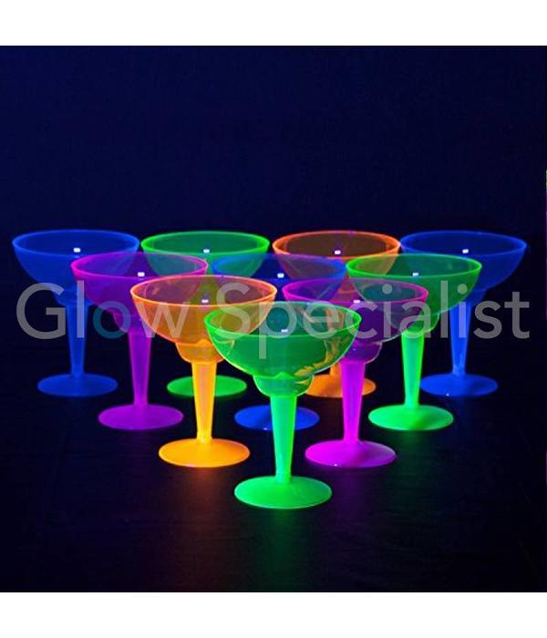 Party Essentials NEON MARGARITA GLAS - ASSORTED - 12 PIECES