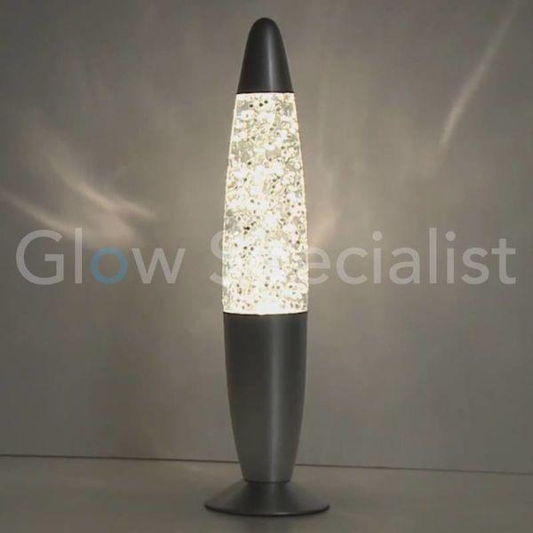 GLITTER LAMP - ZILVER